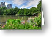 New York City Greeting Cards - Central Park Greeting Card by Kelly Wade