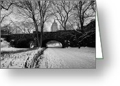 Lake Greeting Cards - Central Park West and the San Remo Building  Greeting Card by John Farnan