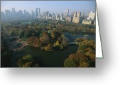 Skylines Photo Greeting Cards - Central Parks Bethesda Fountain Greeting Card by Melissa Farlow