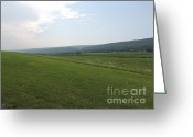 Amish Farms Greeting Cards - Central Pennsylvania Mountain Valley Landscape Greeting Card by JB Ronan