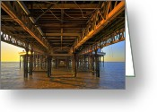 Big Wheel Greeting Cards - Central Pier Blackpool Greeting Card by Jason Connolly