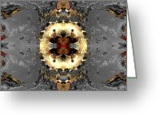 Generative Digital Art Greeting Cards - Central planning Greeting Card by Claude McCoy