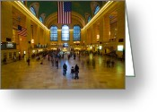 Midtown Greeting Cards - Central Station Greeting Card by Svetlana Sewell