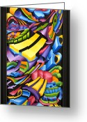 Color Reliefs Greeting Cards - Centripicle Greeting Card by Jason Amatangelo