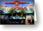 Umbrellas Greeting Cards - Centro Ybor Greeting Card by Amanda Vouglas