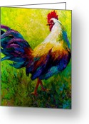 Rooster Greeting Cards - CEO Of The Ranch - Rooster Greeting Card by Marion Rose