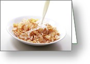 Healthy Eating Greeting Cards - Cereal Food Greeting Card by Yuji Kotani