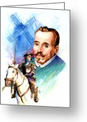 Spaniards Greeting Cards - Cervantes Greeting Card by Ken Meyer jr