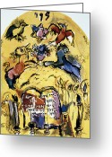Star Of David Greeting Cards - Chagall: Levi Greeting Card by Granger