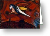 Old Testament Greeting Cards - Chagall: Song Greeting Card by Granger