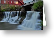Marvelous Greeting Cards - Chagrin Falls Ohio Greeting Card by Robert Harmon