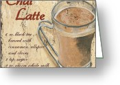 Cinnamon Greeting Cards - Chai Latte Greeting Card by Debbie DeWitt