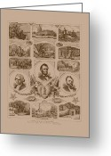 Civil Greeting Cards - Chain of events in American History Greeting Card by War Is Hell Store