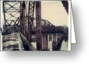 Missouri Photographer Greeting Cards - Chain Of Rocks Bridge Greeting Card by Jane Linders