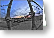 Chained Greeting Cards - Chained Sky Greeting Card by Tom Melo