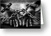 Chains Greeting Cards - Chains Greeting Card by Fabrizio Troiani