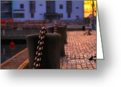 Decorativ Photo Greeting Cards - Chains Greeting Card by Miso Jovicic