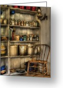 Mason Jars Photo Greeting Cards - Chair - Chair in the Corner Greeting Card by Mike Savad