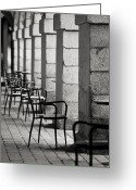 Me And My Shadow Greeting Cards - Chairs and pillars  Greeting Card by Marcio Faustino
