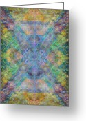 Sacred Geometry Greeting Cards - ChaliCell Garden Mandala Greeting Card by Christopher Pringer