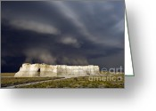 Black Cloud Greeting Cards - Chalk Pyramid Tornado - D003115 Greeting Card by Daniel Dempster