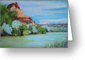 Chama River Greeting Cards - Chama River Outside Abiquiu Greeting Card by Richard  Willson