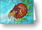 California And Hawaii Greeting Cards - Chambered Nautilus Greeting Card by Shari Carlson