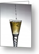 Reception Greeting Cards - Champagne Greeting Card by Gert Lavsen