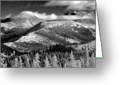Mountain Peaks Greeting Cards - Champagne Snowscape Greeting Card by Kevin Munro