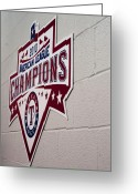 World Series Champion Greeting Cards - Champions Greeting Card by Malania Hammer