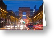 Champs Elysees Greeting Cards - Champs-Elysees Greeting Card by Mircea Costina Photography