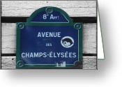 Champs Elysees Greeting Cards - Champs Elysees Greeting Card by Roberto Alamino