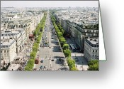 Clear Photo Greeting Cards - Champs-Élysées Greeting Card by Photographed by Victoria Phipps ©