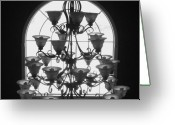 Anna Villarreal Garbis Greeting Cards - Chandelier Greeting Card by Anna Villarreal Garbis