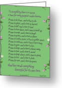 Bible Greeting Cards - Change of seasons Greeting Card by Greg Long