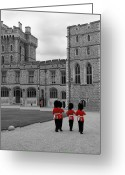 Custom Art Photo Greeting Cards - Changing of the Guard at Windsor Castle Greeting Card by Lisa Knechtel