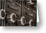 Tube Amp Greeting Cards - Channel 2 Greeting Card by Scott Norris