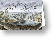 Napoleonic Wars Greeting Cards - Channel Tunnel Greeting Card by Sheila Terry