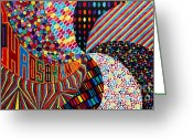 Chromatic Painting Greeting Cards - Chaos and Harmony Greeting Card by Sean Ward