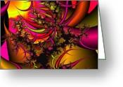 Chaos Theory Greeting Cards - Chaos Theory Greeting Card by Christy Hodgin