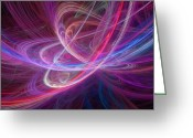 Chaos Theory Greeting Cards - Chaos Waves, Artwork Greeting Card by Laguna Design