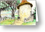 Tilly Strauss Greeting Cards - Chapel on Estate River Greeting Card by Tilly Strauss