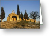 Church Photos Greeting Cards - Chapelle dEygalieres en Provence. Greeting Card by Bernard Jaubert