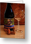 Wine Bottle Prints Greeting Cards - Chard 2 Greeting Card by Cheryl Young