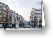 Pavement Greeting Cards - Charing Cross in London Greeting Card by Elena Elisseeva