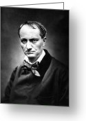 Bowtie Greeting Cards - Charles Baudelaire Greeting Card by Granger