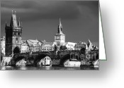 Karluv Most Greeting Cards - Charles Bridge Prague Czech Republic Greeting Card by Matthias Hauser
