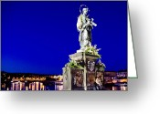 Martyr Photo Greeting Cards - Charles Bridge Statue of St John of Nepomuk     Greeting Card by Jon Berghoff