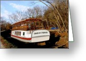 Virginia Pyrography Greeting Cards - Charles E Mercer Boat - Great Falls MD Greeting Card by Fareeha Khawaja