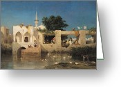 Minarets Greeting Cards - Charles Emile de Tournemine Greeting Card by Cafe in Adalia